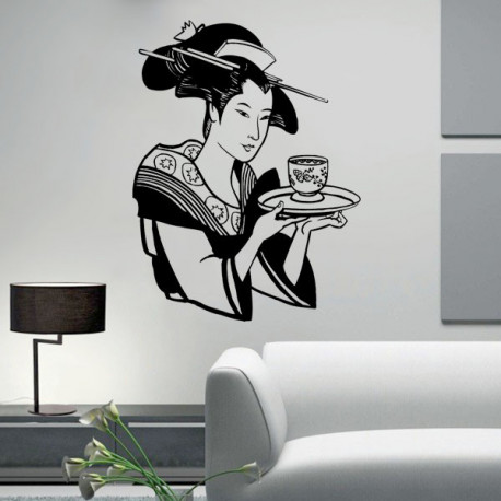 Vinilo decorativo Geisha Japonesa