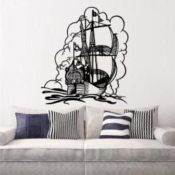Vinilo decorativo Barco galeón de vela