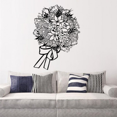 Vinilo decorativo Ramo de Floral
