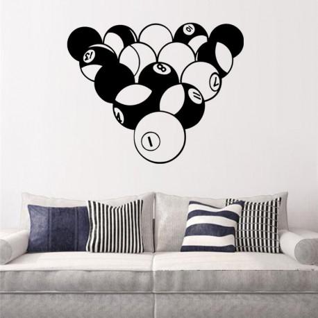 Vinilo decorativo bolas de billar