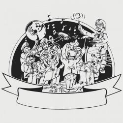 Vinilo decorativo Banda de música